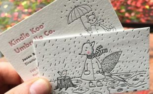 Creative Illustrated Letterpressed Business Cards