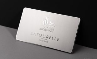 Metal business cards cardrabbit stainless steel cards latourelle reheart Image collections
